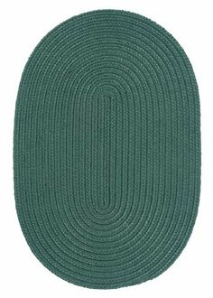 "Boca Raton Myrtle Green Rug Rug Size: Round 5' by Colonial Mills. $143.00. BR62R060X060 Rug Size: Round 5' Features: -Technique: Braided.-Material: 100pct Polypropylene.-Origin: USA.-Reversible.-Stain resistant.-Fade resistant. Construction: -Construction: Hand guided. Dimensions: -Pile height: 0.5"".-Overall Dimensions: 34-168'' Height x 22-132'' Width. Collection: -Collection: Boca Raton."