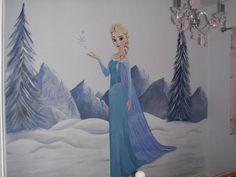 Frozen kids room mural - www.custommurals.co.uk Elsa