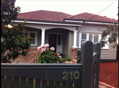 New windows and veranda Weatherboard Colour - Dulux Dune Fence - Dulux slate grey