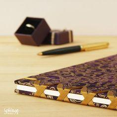 Libro de firmas artesanal con costura japonesa