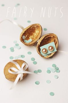 Easy and fun DIY Cute gift idea for christmas Fairy Nuts So cute The best idea to pack a small gift Weihnachtsgeschenke selber machen Geschenke selber machen DIY We.