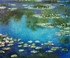 Water Lilies - Claude Monet - Oil Painting Reproduction