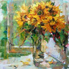"""Daily Paintworks - """"Sunny summer"""" - Original Fine Art for Sale - © Valerie Lazareva Daily Painters, Z Arts, Watercolor Paintings, Floral Paintings, Plant Art, Still Life Art, Abstract Flowers, Fine Art Gallery, Art Techniques"""
