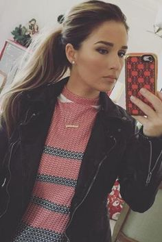Jessie James Decker wearing Free People Hooded Moto Faux Leather Jacket and ASOS Maternity Column Midi Dress in Knitted Colored Stripe