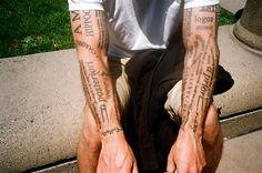Text tattoos | by Josh Blank