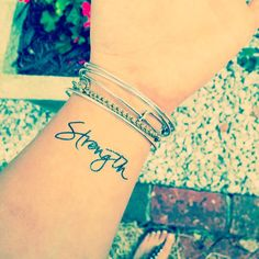 May you feel that strength deep inside you honey. :: temporary tattoos