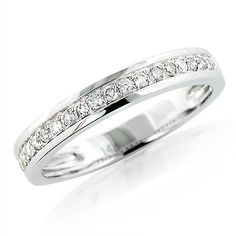 14K Gold Diamond Wedding Band 0.26ct