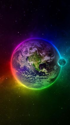 beautiful backgrounds . rainbow colours . planet earth ✿