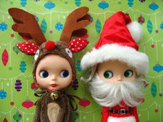 Rosie the Red Nosed Reindeer and Hollywood Claus   von chantastic   Flickr