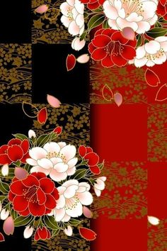An Oriental print (Hoffman, maybe?) that my mother would love. An Oriental print (Hoffman, maybe?) that my mother would love. Japanese Textiles, Japanese Fabric, Japanese Prints, Japanese Design, Japanese Art, Art Floral, Motif Floral, Oriental Print, Oriental Design