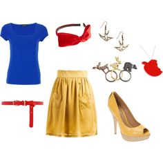 DIY Snow White Costume - for baby shower but may change the skirt to mullet skirt instead and defintly no heels lol