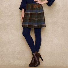 Love the Ralph Lauren Plaid Wool Kilt on Wantering  wrap around kilt skirt, a MUST!