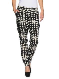 Vero Moda Easy Loose Pant black square print