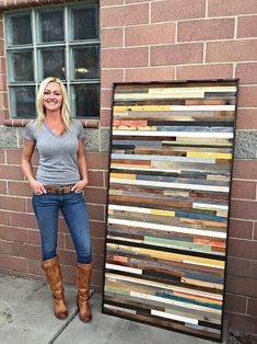 Use these ideas to create a nice wood quilt wall art, and you will end up with a decoration piece not everyone ordinarily picks. For more ideas go to betterthathome.com #homedesignideas #homedesign #homeideas #interiordesign #homedecor #interiordecorating #interiordecor #woodquilt #walldecor #wallart