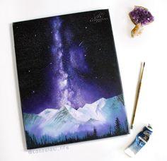 Milky Way Painting  Space Art  Wall Art  Oil by KanoelaniArt