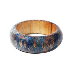 wooden bracelet with Plant weaving #handmade in #Philippines