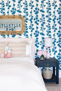 North Fork Waterfront by Chango & Co. Architectural advisement, interior design & custom furniture design by Chango & Co. Photography by Sarah Elliott. Pink Headboard, Pink Bedding, Bedroom Sets, Girls Bedroom, Bedroom Decor, Bedrooms, Kid Spaces, Living Spaces, Custom Furniture