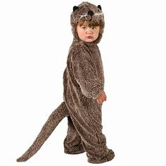 great otter costume could be adapted for adult.  although there were difficulties with my kangaroo tail.........