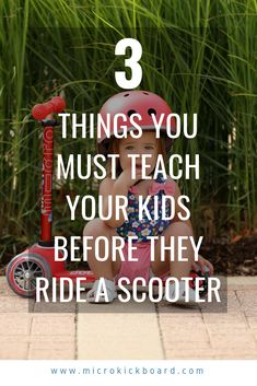 Safety tips for riding scooters. 3 ways to keep you and your children safe while scooting. Micro Scooter, Kids Scooter, Safety Rules, Safety Tips, Micro Kickboard, Best Toddler Gifts, Scooters, Kids Learning, Kids Playing