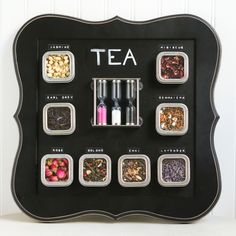 This DIY Magnetic Tea Board makes a perfect homemade Christmas gift for any tea lover.