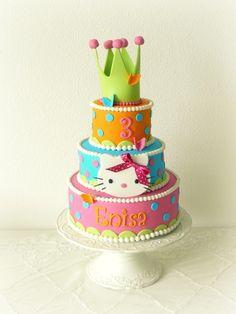 Children's Birthday Cakes - Hello Kitty birthday cake