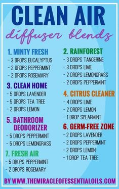 essential oil diffuser blends for clean air Aromatherapie/ Ätherische Öle Essential Oil Spray, Essential Oils Guide, Essential Oil Diffuser Blends, Doterra Essential Oils, Peppermint Essential Oil Uses, Relaxing Essential Oil Blends, Diy Diffuser Oil, Doterra Diffuser, Essential Oils For Sleep