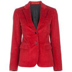 This red blazer is stunning
