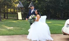 The bride and her father getting ready to make her grand entrance at Pierce Castle:  Mississippi's Premiere Wedding and Event Venue