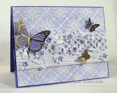 Lavender Butterflies Are Free by kittie747 - Cards and Paper Crafts at Splitcoaststampers