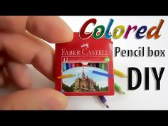Tutorial how to make a Realistic Miniature colored pencils with box - YouTube