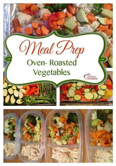 Make Ahead and Freeze Oven Roasted Vegetables. I like to meal prep by roasting two huge cookie sheets full of vegetables then freeze in individual servings with 4 oz protein (turkey, chicken, beans, etc) for lunches and dinners.