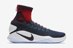 "Nike Hyperdunk 2016 Flyknit ""Dark Obsidian Bright Crimson"" - EU Kicks: Sneaker Magazine"