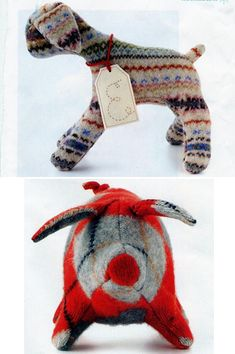 If you want to make some gifts this holiday season and have some old sweaters in the closet, check out these stuffed animal patterns from Martha Stewart. via Abbey Goes Design Hunting. var federate...