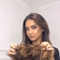 Wear that Easy-To-Wear Stylish Hair Scrunchies confidently everywhere, knowing it makes that hair looks professionally done, even with thin fine hair! Curly Hair Styles, Natural Hair Styles, Grunge Hair, Stylish Hair, Great Hair, Pretty Hairstyles, 60s Hairstyles, Greasy Hair Hairstyles, Haircuts