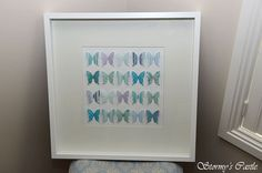 Large 20 butterfly shadow box custom order.