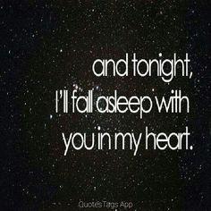 As I do every night.