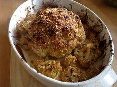 Garam Masala baked cauliflower.