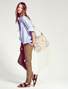 Laurence Doligé S/S 13 - Chemise Seberg. Pantalon Bill. Sac Luxe 083. Sandales Brother.