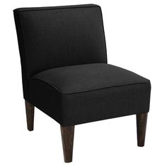 """Nearly ideal specs: 25"""" wide, 18"""" high seat. Available in French Yellow. Found it at Joss & Main - Lyss Accent Chair"""