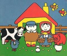 Leren Is Tof :: lerenistof Animals For Kids, Farm Animals, Elsa Beskow, Farm Unit, Farm Kids, Human Drawing, Miffy, Farm Theme, Dutch Artists