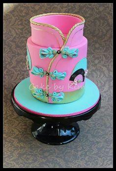 Japanese dress inspired cake