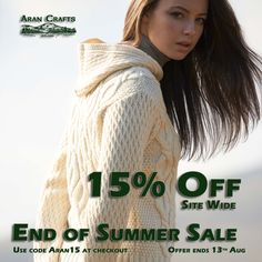 Aran Crafts is home to an authentic collection of Aran sweaters for men, women and children. Using traditional patterns, find your very own Irish sweater here. End Of Summer, Summer Sale, Ireland, Men Sweater, Cute Outfits, Crochet Hats, Clothing, Pattern, Sweaters