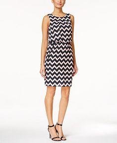 SL Fashions Sleeveless Printed Sheath Dress - Dresses - Women - Macy's