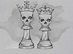Kunst Tattoos, Paar Tattoos, Skull Tattoos, Body Art Tattoos, Sleeve Tattoos, Crown Tattoo Design, Tattoo Design Drawings, Tattoo Sketches, Art Drawings