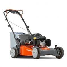 Equipped with heavy-duty steel cutting deck and easy start engines, this mower features collection, mulch or side discharge.  Rugged ball-bearing wheels ensure smooth driving