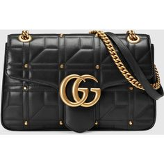 Gucci Gg Marmont Matelassé Shoulder Bag ($2,450) ❤ liked on Polyvore featuring…