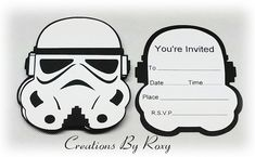 Star wars Storm Trooper Inspired Invitations by CreationsbyRoxy