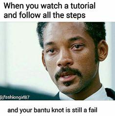Argh Bantu knots are the devil!!!