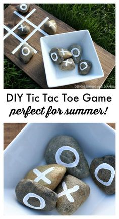 DIY Tic Tac Toe Game For Summer Gatherings.Y Crafts home decor ideas for Summer holidays Make this DIY Tic Tac Toe Game for outdoor fun this summer! Taryn from Design, Dining and Diapers shows us how!