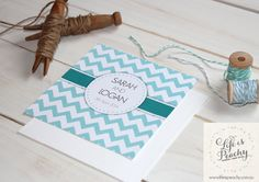 Chic Chevron Wedding Inviation